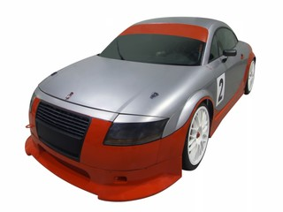 sport racing car isolated