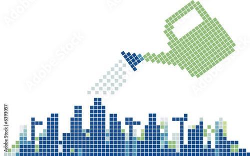 Construction growth concept illustration