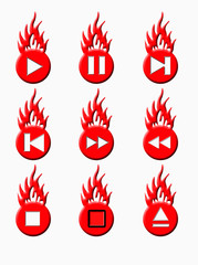 burning player buttons red