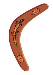 Aboriginal boomerang vector drawing