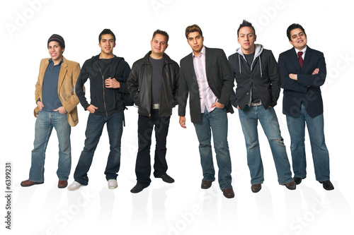 Good looking hispanic men posing