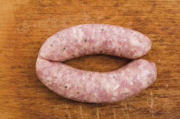 traditional Polish white sausage, raw