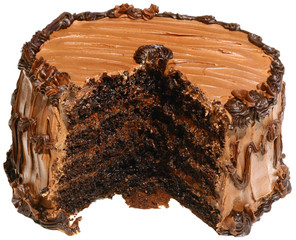 Cut Chocolate Cake