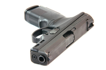 concept social issues criminality handgun isolated