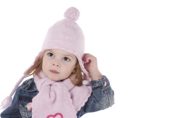 cute little girl in winter outfit