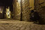 solitude seul déprime rue trottoir sdf poster