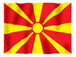 Fluttering image of the Macedonian flag.
