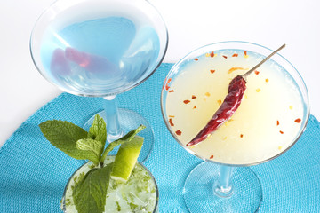 Cocktails on Blue