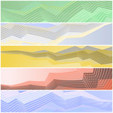 Zigzag banners poster