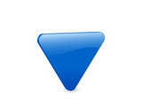 blue triangular 3d  icon poster