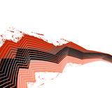 Zigzag splatter poster