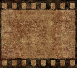 Old Film Negative Frame - Grunge Background