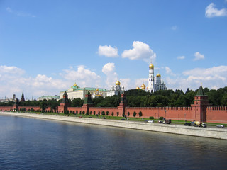 The embankment of the Kremlin