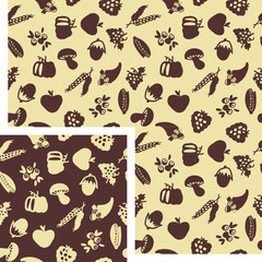 seamless patterns - fall and nature