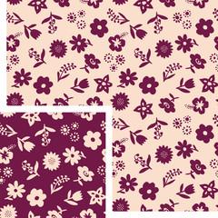 seamless patterns - flowers