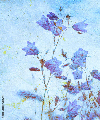 canvas print picture grunge floral background with space for text or image