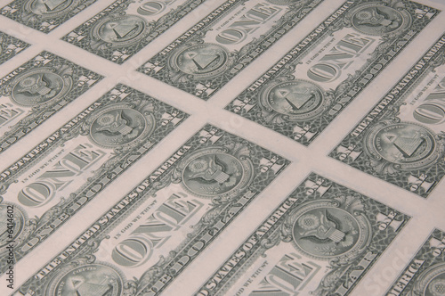 One is the loneliest number of dollar bill back in sheet form