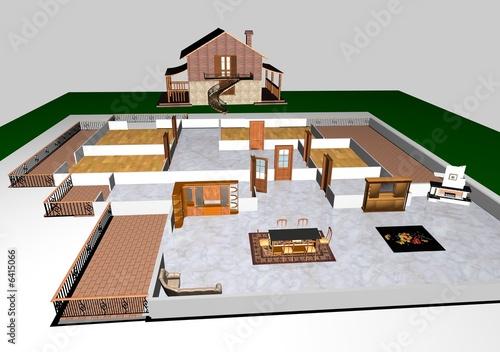 Progetto casa in campagna di claudio foto stock royalty - Progetto casa campagna ...