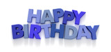 Happy Birthday formed with capital letter magnets 01 poster
