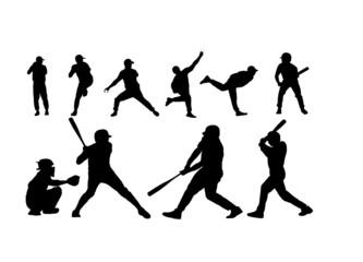 Baseball Vector Silhouettes