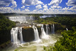 Leinwanddruck Bild - Iguassu Falls is the largest series of waterfalls on the planet,