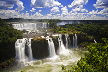 Iguassu Falls is the largest series of waterfalls on the planet,