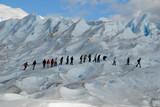 Trekking  on a glacier Perito Moreno, Argentina. poster