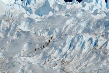 Trekking  on a glacier Perito Moreno, Argentina..