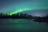 Fototapeta Aurora Borealis over the river