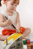 Home Improvement - Little Girl repairs poster