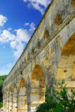 Pont du Gard is a part of Roman aqueduct in southern France  poster