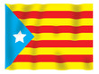 Fluttering image of the Catalan regional flag.