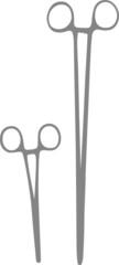 Medical forceps vector illustration