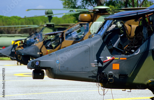Foto Spatwand Helicopter les tigres