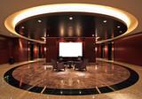 Lobby in luxurious hotel