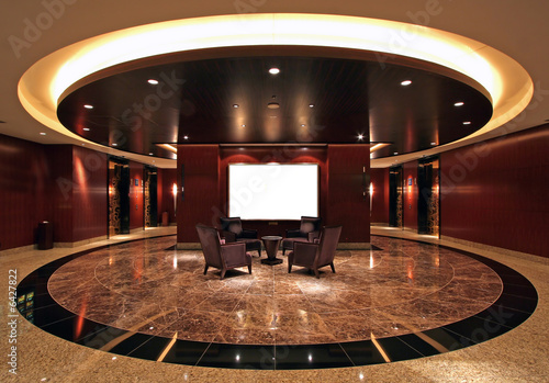 Lobby in luxurious hotel