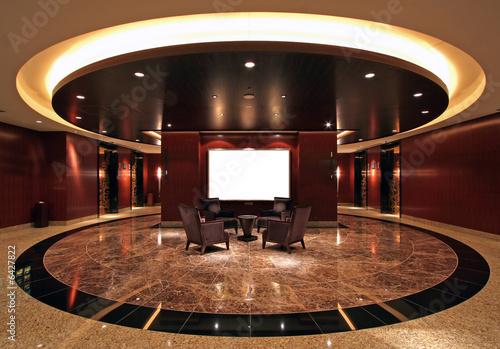 Lobby in luxurious hotel - 6427822