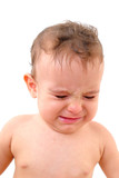 Portrait of an Adoreble Baby Crying . poster