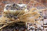 Natural lavender soap and lavender seeds