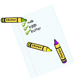 lined paper with shopping check list  poster
