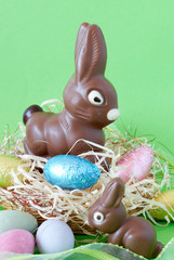 Assortment of chocolate Easter eggs