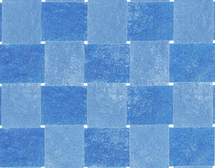 Textile background. Textile chessboard.