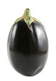 Black aubergine otherwise known as egg plant. poster