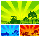 Agricultural machinery poster