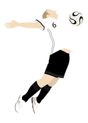 Fußballspieler, Football player