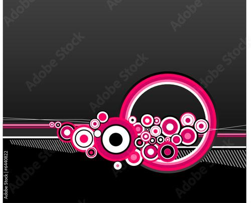 Illustration of pink circles. Vector
