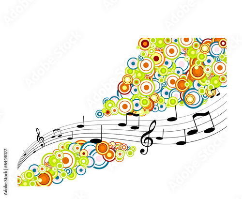 Tunes with circles. Vector art