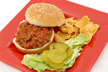 A Sloppy Joe Lunch