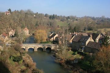 Le village de Saint-Céneri-le-Gérei (Basse-Normandie)