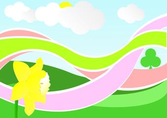 fantasy spring landscape